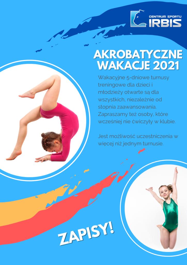 Akrobatyczne wakacje 2021 w Centrum Sportu IRBIS!